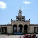 Железнодорожный вокзал Сухума. Абхазия.