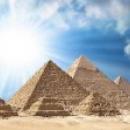Пирамиды на плато Гиза в Египте