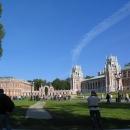 Царицыно — дворцово-парковый ансамбль в Москве. Хлебный дом, Галерея-ограда с воротами и Большой дворец.