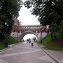 Фигурный мост на территории парка Царицыно в Москве.