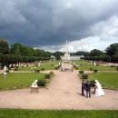 Оранжерея, парк и стела в честь приезда Екатерины II в Кусково.