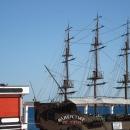 Корабль-ресторан на набережной Сочи.