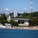 Вид с моря на Фестивальный в Сочи.