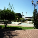 Каскад фонтанов в парке у Фестивального в Сочи.