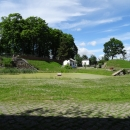 Вид из казарм на территорию форта номер 11. Калининград.