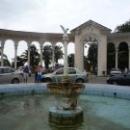 Колоннада и фонтан в Гагре. Абхазия.