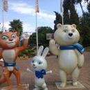 Олимпийские талисманы. Курорт «Газпром» в Красной Поляне.