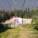 Вид на канатки «Газпрома». Красная Поляна.