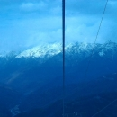 Вид на хребет Псехако в ноябре. Красная поляна. Сочи.