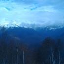 Вершины хребта Псехако в ноябре.