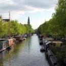 Дома на воде в Амстердаме, Голландия