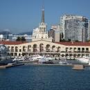 Морской вокзал Сочи — транспортная достопримечательность.