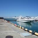 Круизные лайнеры у нового морского вокзала Сочи.