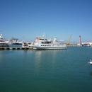 Прогулочный катамаран «Дагомыс» в порту Сочи.