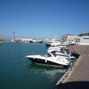 Вид на ТЦ «Гранд Марина» с акватории морского порта Сочи.