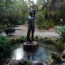 Фонтан-скульптура «Купальщица» в Гурзуфском парке.