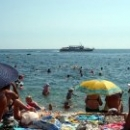 Общественный пляж в Гурзуфе.