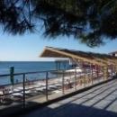 Набережная Гурзуфа, общественные и платные пляжи.