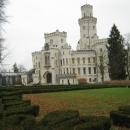 Замок Глубока в Чехии - один из самых красивых замков Европы. Глубока-над-Влтавой. Южная Чехия.