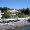 Пляж пансионата Эдем в Сочи в сентябре.