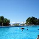 У бассейна с морской водой пансионата Эдем в Сочи.