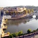 Вид на Рим с крепости Святого Ангела.