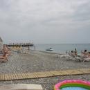 Галечные пляжи Турции на Средиземном море.