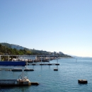 Черное море — пляж пансионата Эдем в Сочи.