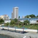 Пляж пансионата Эдем в Сочи.