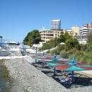 Собственный пляж пансионата Эдем в Сочи.