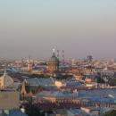 Вид на Санкт-Петербург со смотровой площадки Исаакиевского собора.