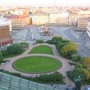 Панорама Санкт-Петербурга со смотровой площадки, расположенной на куполе Исаакиевского собора.