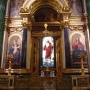 Витраж главного алтаря Исаакиевского собора в Санкт-Петербурге. Воскресение Христа (1841-1843).