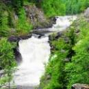 Карелия. Заповедник Кивач. Самый крупный равнинный водопад Европы.