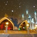 Комплекс мечети Кул-Шариф в Казанском кремле зимой.