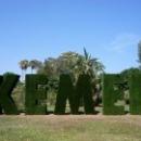 Надпись Кемер в парке Кемера, недалеко от порта Кемер.