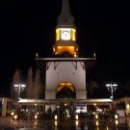 Центр города Кемер ночью.
