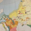 Расселение древних людей в Европе во времена пика валдайского оледенения.