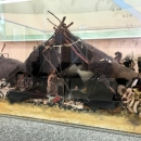 Макет жилища из костей мамонта. Музей «Костёнки».