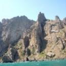 Потухший вулкан Кара-Даг на Черном море в Крыму. Коктебель.