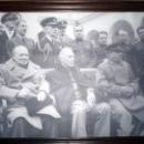 Крымская конференция 1945 года в Ливадийском дворце.И.В.Сталин, Ф.Д.Рузвельт, У.Черчилль.
