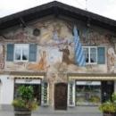 Росписи домов красками по сырой штукатурке в Германии