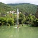 Фонтан Стрелец в Старой Гагре. Абхазия.