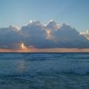 Вечерняя пора на пляжах Канкуна. Мексика.