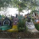 Надгробья в парке Шкарет - точные копии самых необычных могил Мексики.