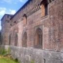 Крепостные стены Замка Сфорцеско в Милане.