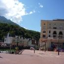 Вид с площади Роза на Роза Долину (Роза Хутор).