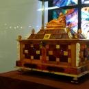 «Шкатулка с Дионой», реконструкция изделия 2 половины 17 века. Музей янтаря в Калининграде.