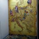 Карта торговых янтарных путей I-IV вв. Музей янтаря в Калининграде.