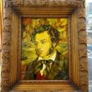 Портрет из янтаря А.С. Пушкина. Музей Янтаря в Калининграде.